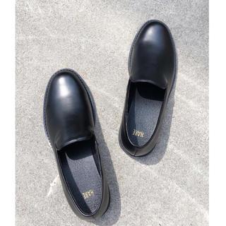 ハレ(HARE)の新品未使用 HAREハレ ミニマルレザースリッポン M ローファー 革靴(ドレス/ビジネス)