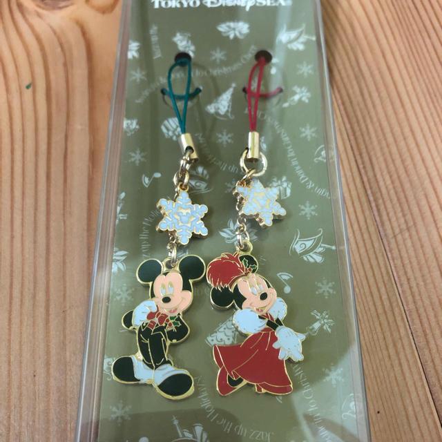 ディズニー ペアストラップ クリスマス エンタメ/ホビーのおもちゃ/ぬいぐるみ(キャラクターグッズ)の商品写真