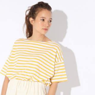 ニコアンド(niko and...)のニコアンド  黄色ボーダー シャツ(Tシャツ(半袖/袖なし))