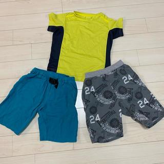 GU - 男の子 110 涼しい夏の半パンセット &スポーツTシャツ