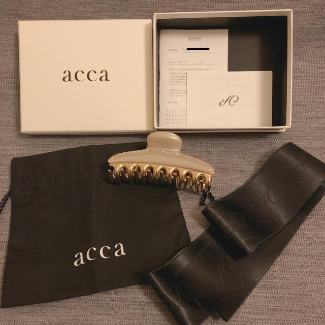 acca(アッカ)の未使用品*付属品全てあり!アッカ クリップ レディースのヘアアクセサリー(バレッタ/ヘアクリップ)の商品写真