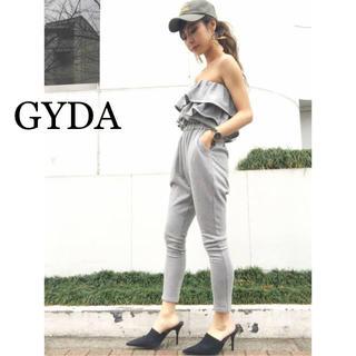 GYDA - GYDA フリルスウェットロンパース