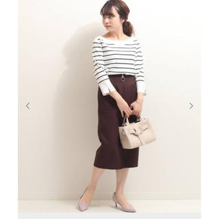ノーブル(Noble)の【Noble】ダブルクロスフープジップタイトスカート(ひざ丈スカート)