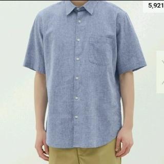 GU - 【新品同様】GU リネンブレンドシャツ シャツ 半袖シャツ リネンシャツ