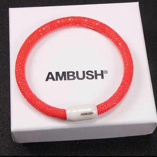 アンブッシュ(AMBUSH)のアンブッシュ マルチカラーブレスレットオレンジクロコ調(ブレスレット)