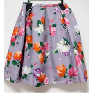 チェスティ(Chesty)の【断捨離中】Chesty フラワースカート サイズ1  パープル(ひざ丈スカート)