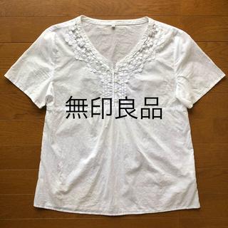 ムジルシリョウヒン(MUJI (無印良品))の無印良品 レース カットソー S(カットソー(半袖/袖なし))
