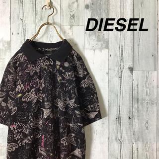 ディーゼル(DIESEL)の激レア入手困難 DIESEL 総柄ポロシャツ ブルガリア製 ジャスティンビーバー(ポロシャツ)