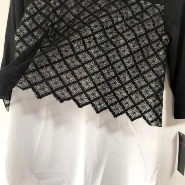 ZARA(ザラ)の新品⭐️重ね着風が可愛い(๑˃̵ᴗ˂̵)✨‼️襟付き❤️五分丈モノトーン レディースのトップス(シャツ/ブラウス(半袖/袖なし))の商品写真