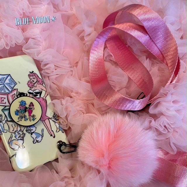 ♥♥cute iphone♥caseファーつき★ステッカープレゼント新品未使用♥ スマホ/家電/カメラのスマホアクセサリー(iPhoneケース)の商品写真