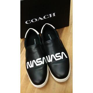 コーチ(COACH)のコーチ coach スニーカー スリッポン NASA メンズ 26㎝(スリッポン/モカシン)