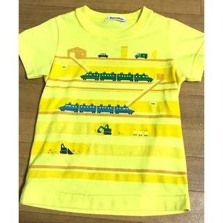 familiar - ファミリア Tシャツ 半袖 車  電車 イエロー 100 カットソー 黄色
