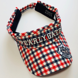 PEARLY GATES - 【新品未使用】PEARLY GATES サンバイザー チェック柄