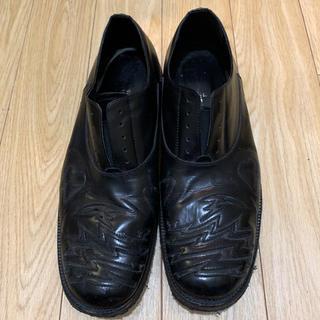 アンダーカバー(UNDERCOVER)のレア UNDERCOVER アンダーカバー レザーシューズ スリッポン 革靴 L(ドレス/ビジネス)