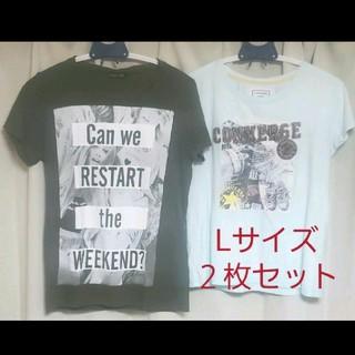CONVERSE - CONVERSE他 Tシャツ(L)2枚セット