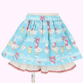 Shirley Temple - シャーリーテンプル あひる&ひよこ キュロット スカート 110 サックスブルー