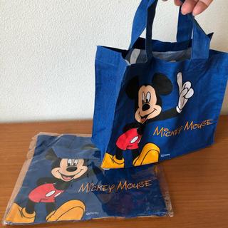 ミッキーマウス(ミッキーマウス)のミッキーマウス 布製ミニバック エコバッグ に 2つセットで(エコバッグ)