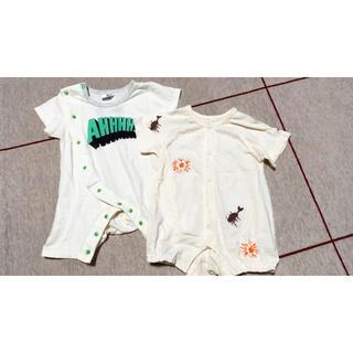 マーキーズ(MARKEY'S)のベビーロンパースカバーオール70半袖2枚セットマーキーズ(カバーオール)