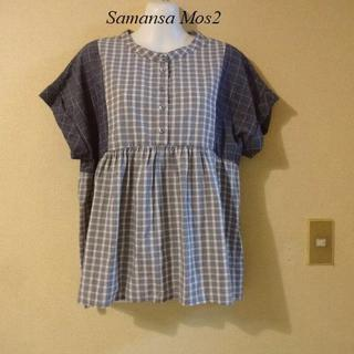 サマンサモスモス(SM2)のサマンサモスモスSamansa Mos2♡パッチワーク風シャツ(シャツ/ブラウス(半袖/袖なし))