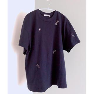 ミナペルホネン(mina perhonen)のミナペルホネン ちょうちょ Tシャツ ネイビー40(Tシャツ(半袖/袖なし))