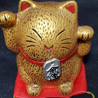 金色 貯金箱招き猫さん