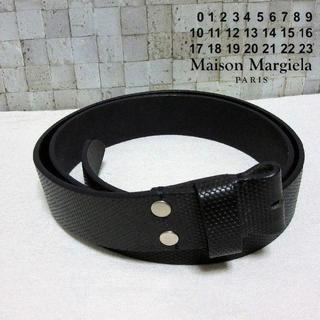 マルタンマルジェラ(Maison Martin Margiela)の試着のみ マルジェラ レザーベルト 模様エンボス モード感 95 XL(ベルト)