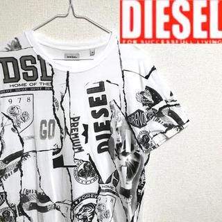 ディーゼル(DIESEL)の美品!DIESELディーゼル  総柄アート グラフィックTシャツ(Tシャツ/カットソー(半袖/袖なし))