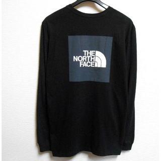 ザノースフェイス(THE NORTH FACE)のノースフェイス*US:XL/ブラック_グレー/ボックスロゴプリント長袖T(Tシャツ/カットソー(七分/長袖))