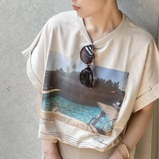 Plage - JANE SMITH/ジェーンスミス SP PHOTO Tシャツ ベージュ