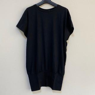 eka 裾リブチュニック フリーサイズ ヨガ ブラック(ヨガ)