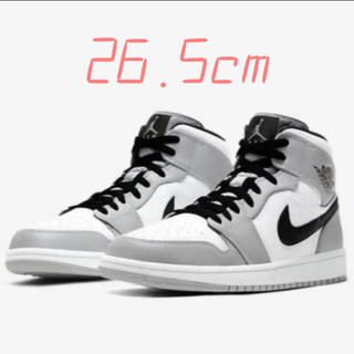 NIKE - NIKE AIR JORDAN 1 MID LIGHT SMOKE GREY