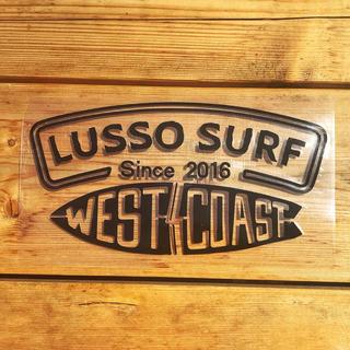 クイックシルバー(QUIKSILVER)のカリフォルニア系☆LUSSO SURF 防水ステッカー ブラック 黒 ROXY(サーフィン)
