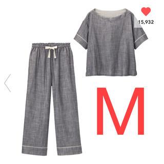 GU - GU オーガニックコットンプルオーバーパジャマ 半袖 大型店限定 完売