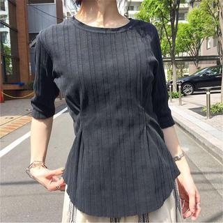 IENA - 【R JUBILEE】RIB TACK Tシャツ black