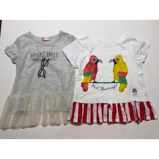 ニシマツヤ(西松屋)の女の子用 Tシャツ 2枚 120(Tシャツ/カットソー)