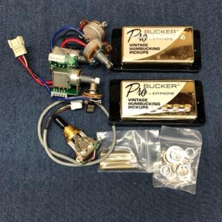 エピフォン(Epiphone)のEpiphone ProBucker 2&3 ゴールド 配線済みアッセンブリ(エレキギター)