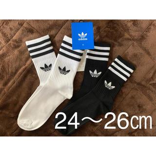 adidas - adidas originals ミッド クルー ソックス 2足組 24〜26㎝