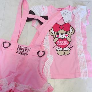 EARTHMAGIC - ローズサロペット♡フリルTシャツ新品タグ付き♡