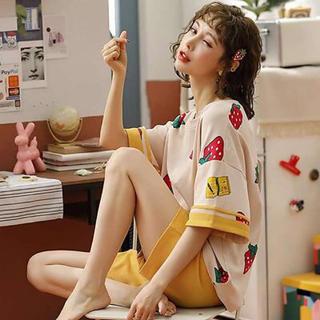 【特価セール!】女の子♡甘めのルームウェア♡ゆったり♡フルーツ柄♡パジャマ♡(ルームウェア)