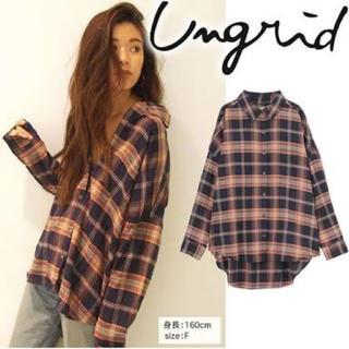 Ungrid - ungrid アングリッド ルーズチェックシャツ