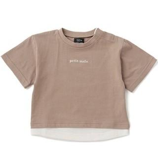 petit main - タグ付き新品❀✿ プティマイン  オーガニックレイヤードTシャツ 100