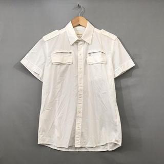 ディーゼル(DIESEL)のディーゼル DIESEL ミニタリーシャツ 半袖 ボタン 襟 エポーレット(シャツ)