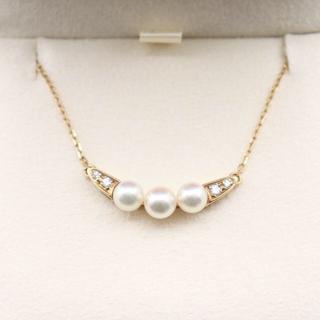ミキモト(MIKIMOTO)のミキモト あこや真珠 ダイヤ ネックレス (ネックレス)