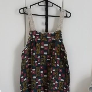 titicaca - インド綿マキシ丈ワンピース