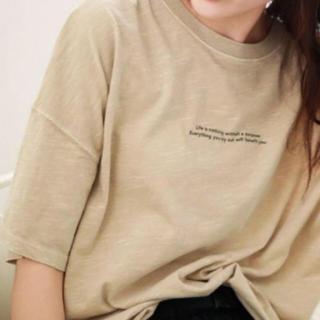 ニコアンド(niko and...)のニコアンドnikoand  ピグメントTシャツ 半袖 ロゴT(Tシャツ(半袖/袖なし))