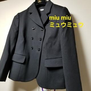 ミュウミュウ(miumiu)のミュウミュウジャケット miu miu 美品 プラダタグあり イタリー製(テーラードジャケット)