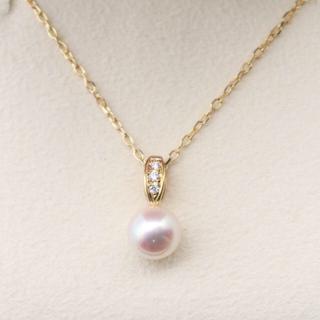 ミキモト(MIKIMOTO)のミキモト ダイヤ あこや真珠 パール ネックレス(ネックレス)