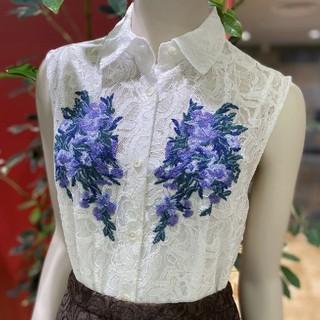 GRACE CONTINENTAL - 完売新作grace continental刺繍レースシャツノースリーブ