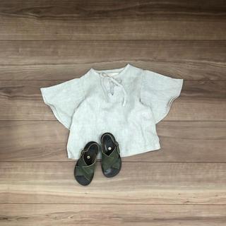 キャラメルベビー&チャイルド(Caramel baby&child )の新品 daughter リネン トップス(Tシャツ/カットソー)