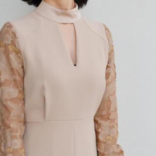 mame - mame ☆ floral cut A line dress